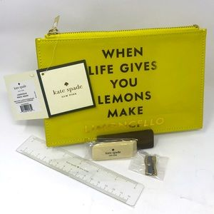 Kate Spade Pencil Pouch-New Never Used Limencello